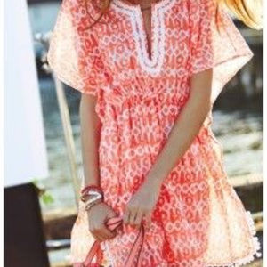 Tops - 2 for $22 Stella & Dot Coral Woodblock Tunic